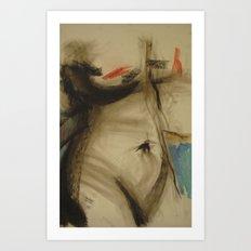 Klooster Series: Female Nude #103 Art Print