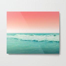 Aqua and Coral, 2 Metal Print