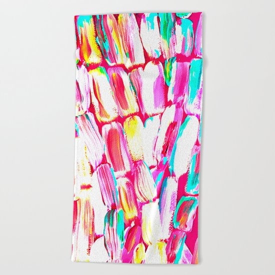 Pink Party Sugarcane Beach Towel