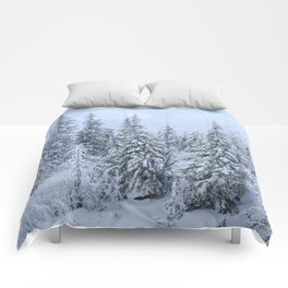 Snowy forest at the White Mountain Comforters