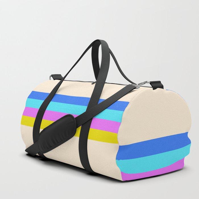 Classic Retro Stripes Dola Duffle Bag