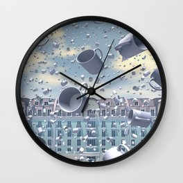 A Muggy Day In Paris Wall Clock