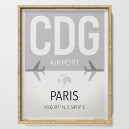 CDG airport Paris Serving Tray