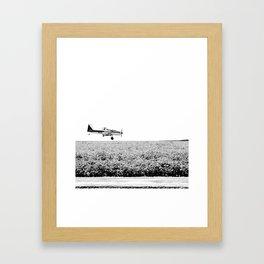 Plane Landscape Framed Art Print