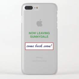 Now Leaving Sunnydale Clear iPhone Case