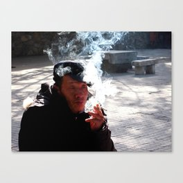 The Smoker Canvas Print