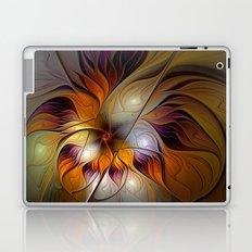 Autumn Flower, Colorful Abstract Fractal Art Laptop & iPad Skin