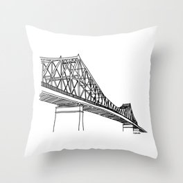 Montreal - Pont Jacques-C - Black Throw Pillow
