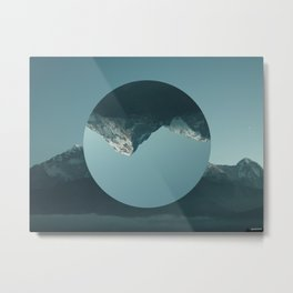 Inverted Mountain Metal Print
