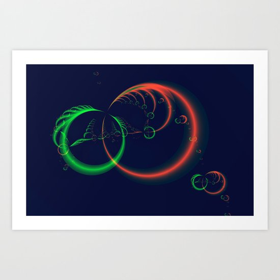 Feather Rings Art Print