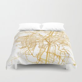 MEDELLÍN COLOMBIA CITY STREET MAP ART Duvet Cover