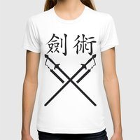 sword T-shirts featuring China Sword by Littlebell