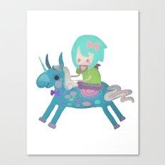 PonyCorn/w Canvas Print