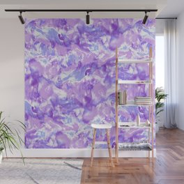 Marble Mist Lilac Wall Mural