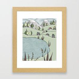 Lakeside Village Framed Art Print