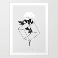 Seja Como Flor Art Print