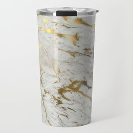 Gold marble Travel Mug