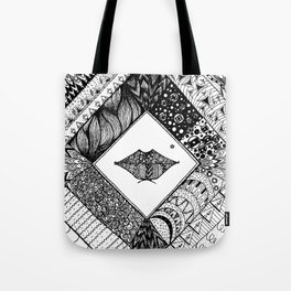 Doodle lips Tote Bag