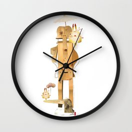 The tree man and the time rabbit Wall Clock