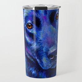 Colorful Labrador Retriever Dog Travel Mug