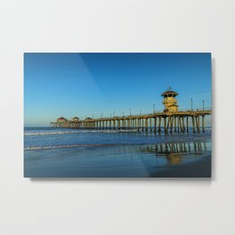 Good Morning Huntington Beach Metal Print