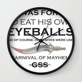 Carnival of Mayhem Wall Clock