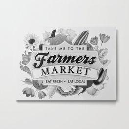 Farmers Market Metal Print