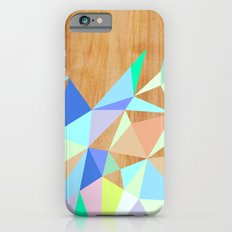 Wooden Geo Aqua Slim Case iPhone 6