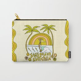 stay golden sun child //retro surf art by surfy birdy Carry-All Pouch