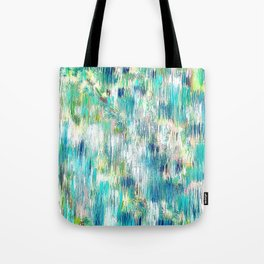 Green Abstract Painting. Beautiful Greens and Blues. Intriguing and Unique. Tote Bag