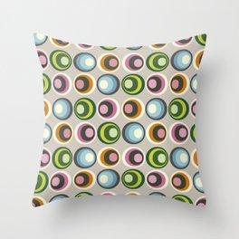Retro midcentury geometric: Suture Throw Pillow