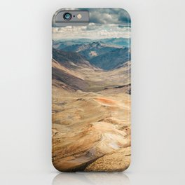 Man front of the mountain iPhone Case