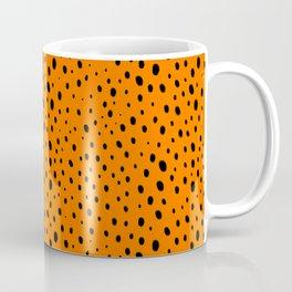 Orange Cheetah Pattern Coffee Mug