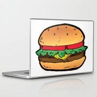 burger Laptop & iPad Skins featuring Burger by CGREDNECK