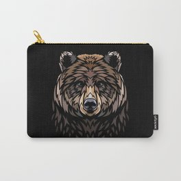 Tribal Frontal bear Carry-All Pouch