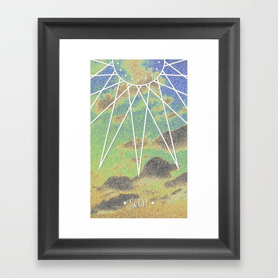 Solarized Burst Framed Art Print