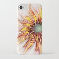 sunflower iPhone & iPod Cases featuring Sunflower by Klara Acel