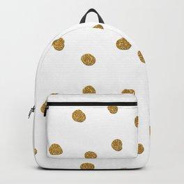 Golden touch II - Gold glitter polka dots Backpack