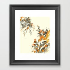 fox in foliage Framed Art Print