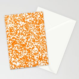 Small Spots - White and Orange Stationery Cards