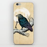 key iPhone & iPod Skins featuring Raven's Key by Rachel Caldwell