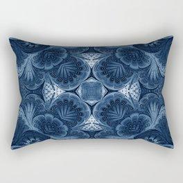 Royal Blue Marble Rectangular Pillow