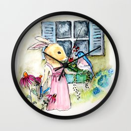 Watercolors from Rigley Rabbit and his Ginormous Floppy Ears Wall Clock