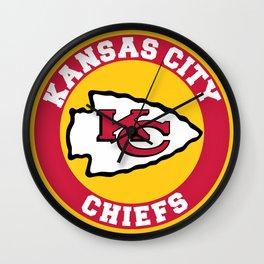 KC Chief US Football Team Wall Clock