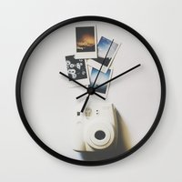 polaroid Wall Clocks featuring Polaroid by Michelle Cella