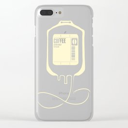 Coffee Transfusion Clear iPhone Case