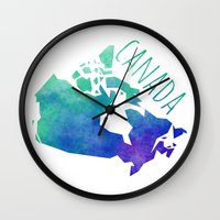 canada Wall Clocks featuring Canada by Stephanie Wittenburg