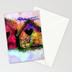 Baby Birdhouses Stationery Cards