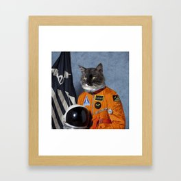 Cats astranout Framed Art Print