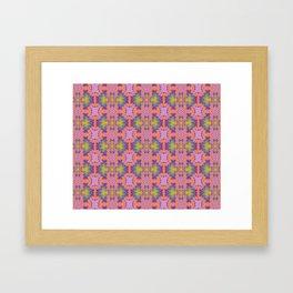 Purple scarab Framed Art Print